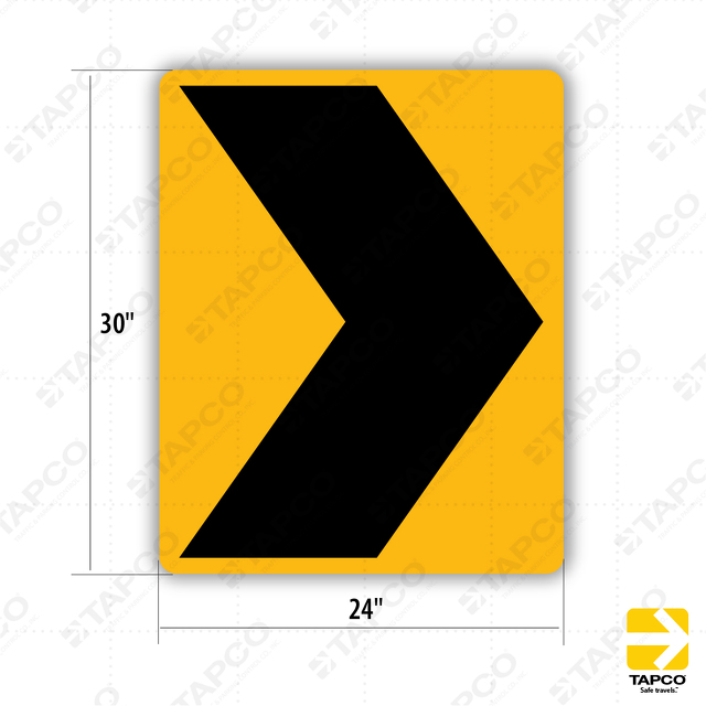 W1 8 Chevron Symbol Right Or Left 303008 Tapco Traffic